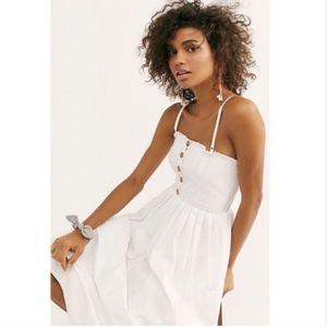 Free People Lilah pleated tube midi dress